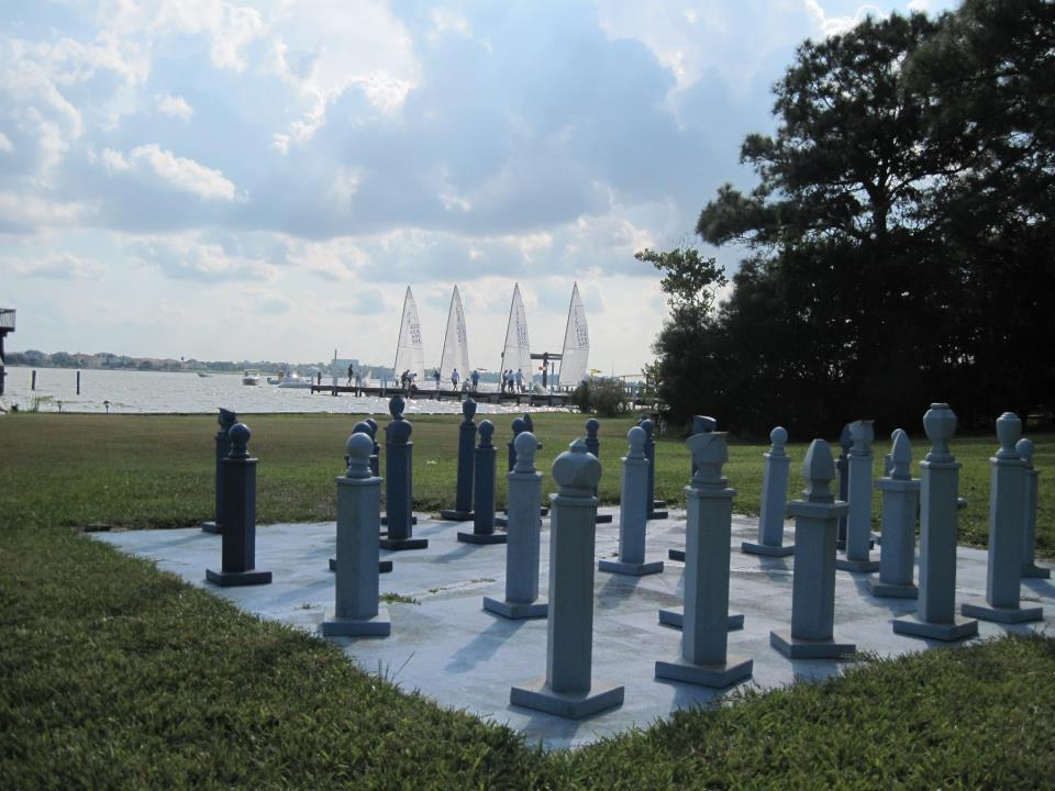 Chess board and sails