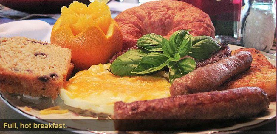 Full hot breakfast at Beacon Hill