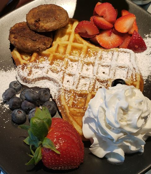 Breakfast Waffles at Beacon Hill Bed and Breakfast